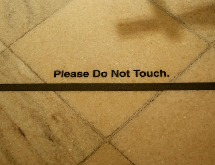 Please do not touch line