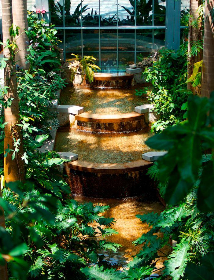 Waterfall at botanical gardens