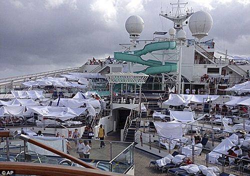Cruise ship shantytown